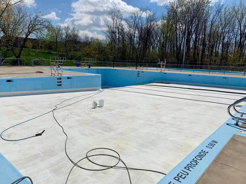 Nettoyage piscine, ville de Montréal